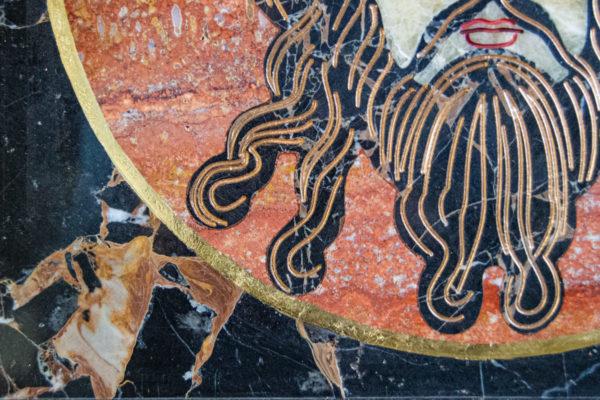 Икона Спас Нерукотворный № 1-12-7 из камня, Гливи, фото 7