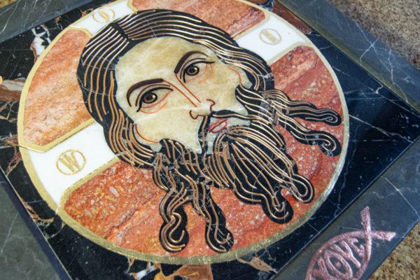 Икона Спас Нерукотворный № 1-12-7 из камня, Гливи, фото 9