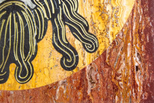 Икона Спас Нерукотворный № 1-12-2 из камня, Гливи, фото 5