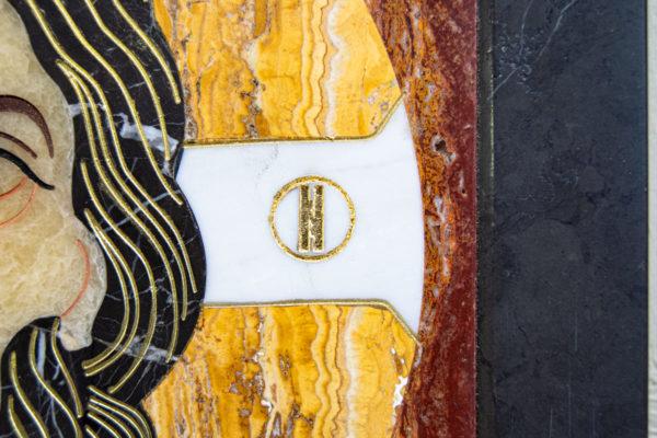 Икона Спас Нерукотворный № 1-12-2 из камня, Гливи, фото 6