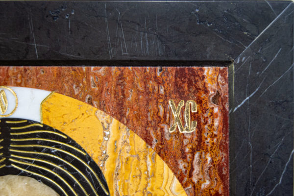 Икона Спас Нерукотворный № 1-12-2 из камня, Гливи, фото 7