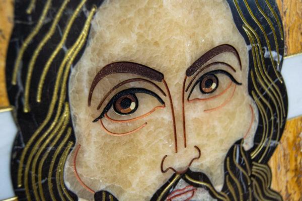 Икона Спас Нерукотворный № 1-12-2 из камня, Гливи, фото 8