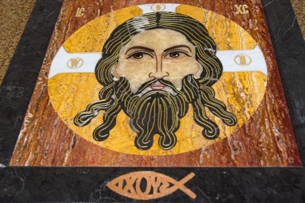 Икона Спас Нерукотворный № 1-12-2 из камня, Гливи, фото 10
