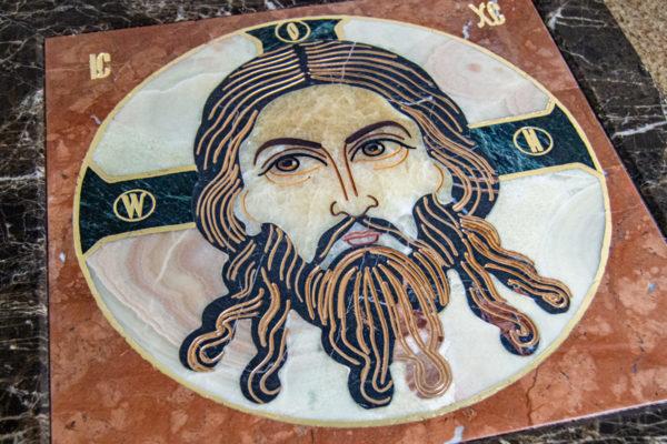 Икона Спас Нерукотворный № 1-12-6 из камня, Гливи, фото 2