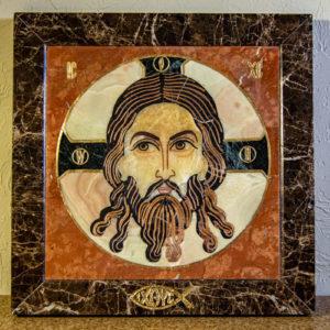 Икона Спас Нерукотворный № 1-12-6 из камня, Гливи, фото 4