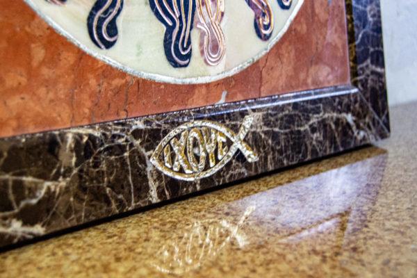 Икона Спас Нерукотворный № 1-12-6 из камня, Гливи, фото 5