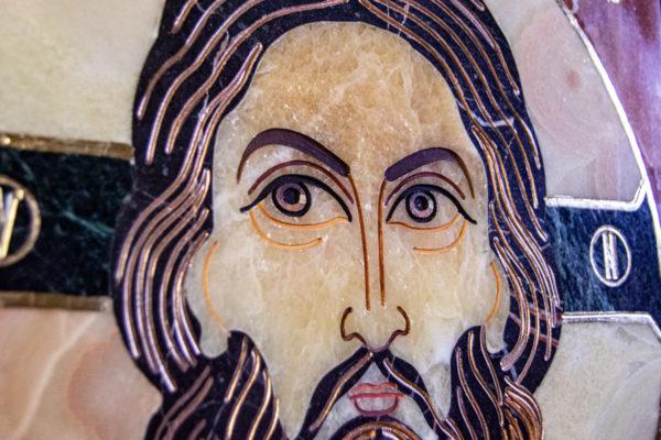 Икона Спас Нерукотворный № 1-12-6 из камня, Гливи, фото 8