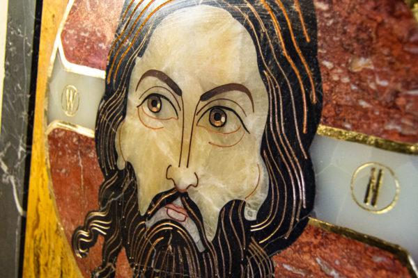 Икона Спас Нерукотворный № 1-12-3 из камня, Гливи, фото 4