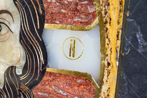 Икона Спас Нерукотворный № 1-12-3 из камня, Гливи, фото 5
