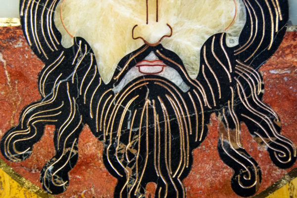 Икона Спас Нерукотворный № 1-12-3 из камня, Гливи, фото 8