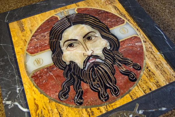 Икона Спас Нерукотворный № 1-12-3 из камня, Гливи, фото 9