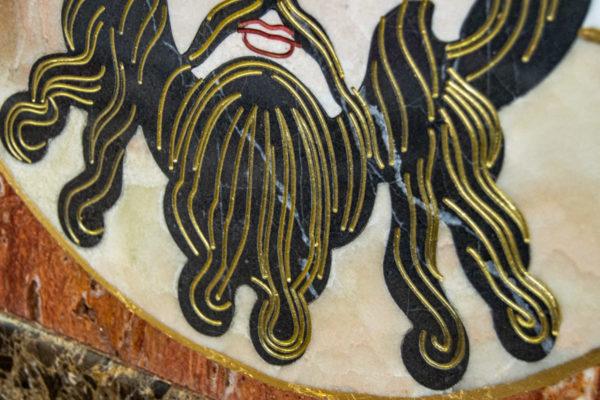 Икона Спас Нерукотворный № 1-12-8 из камня, Гливи, фото 7