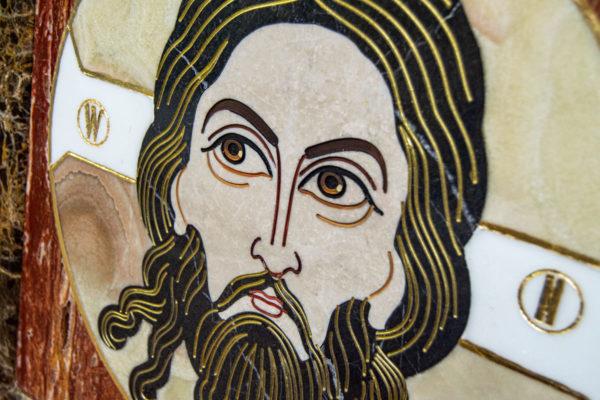 Икона Спас Нерукотворный № 1-12-8 из камня, Гливи, фото 9