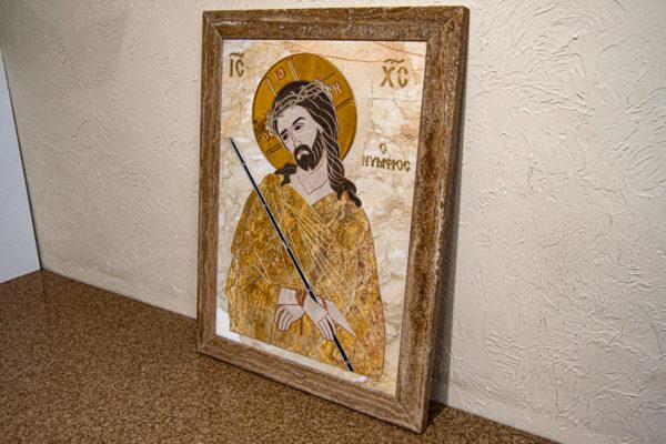 Икона Царь Иудейский № 1-12-2 из камня, Гливи, фото 3
