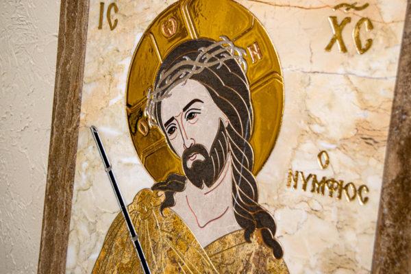 Икона Царь Иудейский № 1-12-2 из камня, Гливи, фото 4