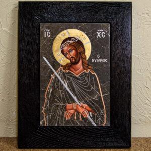Икона Царь Иудейский № 5-2 из камня, Гливи, фото 1
