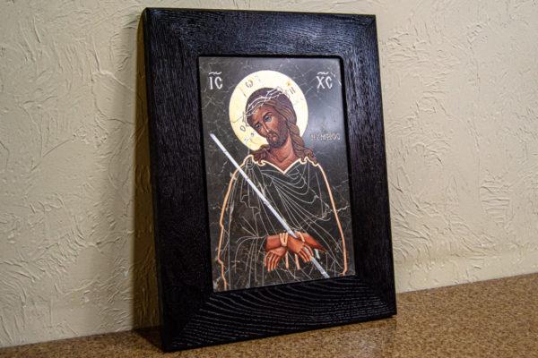 Икона Царь Иудейский № 5-2 из камня, Гливи, фото 2