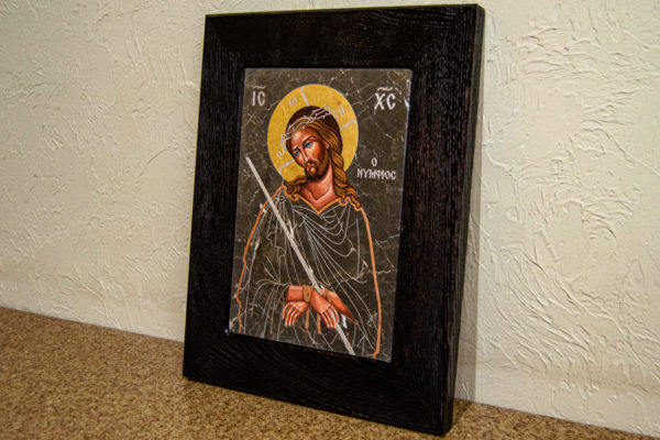 Икона Царь Иудейский № 5-2 из камня, Гливи, фото 3