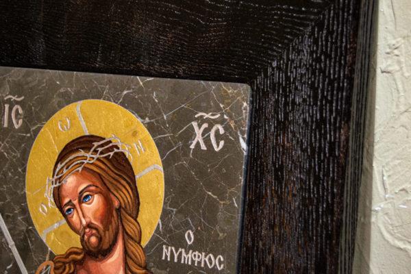 Икона Царь Иудейский № 5-2 из камня, Гливи, фото 8