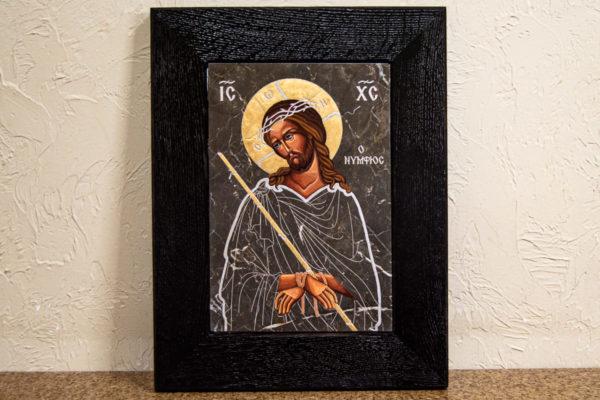 Икона Царь Иудейский № 5-3 из камня, Гливи, фото 1