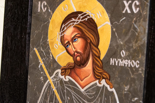 Икона Царь Иудейский № 5-3 из камня, Гливи, фото 4