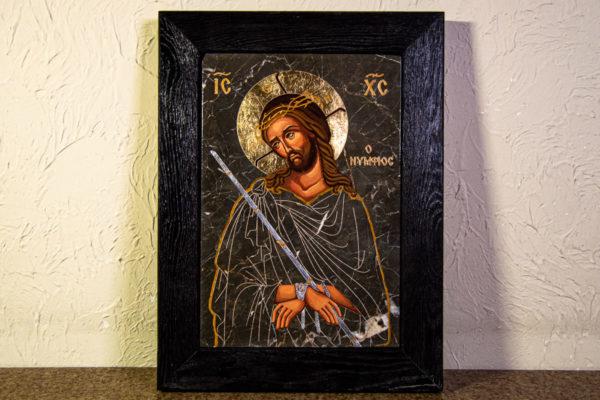 Икона Царь Иудейский № 5-4 из камня, Гливи, фото 1
