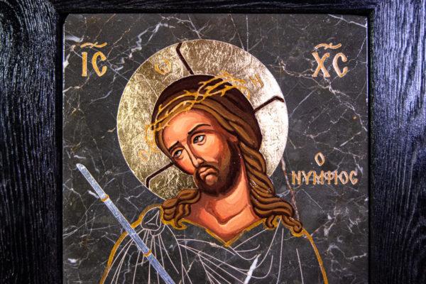 Икона Царь Иудейский № 5-4 из камня, Гливи, фото 2