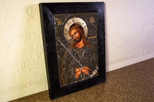 Икона Царь Иудейский № 5-4 из камня, Гливи, фото 3