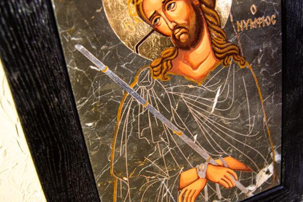 Икона Царь Иудейский № 5-4 из камня, Гливи, фото 5