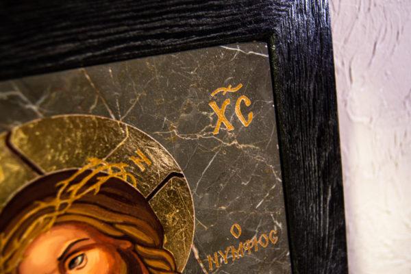 Икона Царь Иудейский № 5-4 из камня, Гливи, фото 6
