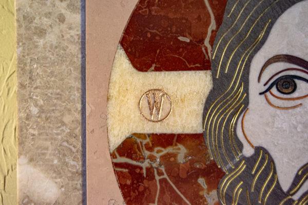 Икона Спас Нерукотворный № 1-12-10 из камня, Гливи, фото 9