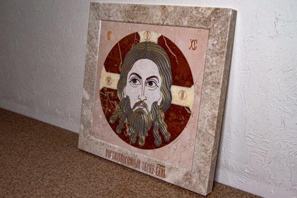 Икона Спас Нерукотворный № 1-12-10 из камня, Гливи, фото 10