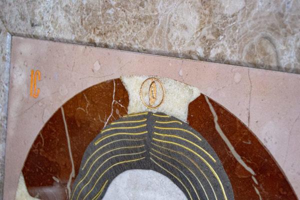 Икона Спас Нерукотворный № 1-12-10 из камня, Гливи, фото 1