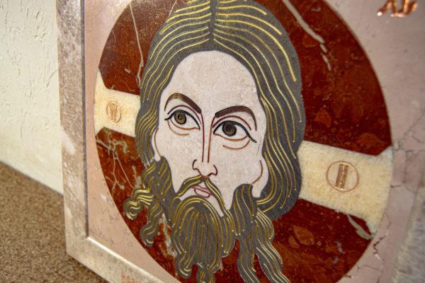 Икона Спас Нерукотворный № 1-12-10 из камня, Гливи, фото 5