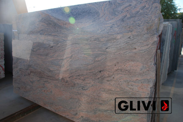 Натуральный камень, природный гранит Juparana India от Гливи, фото 2