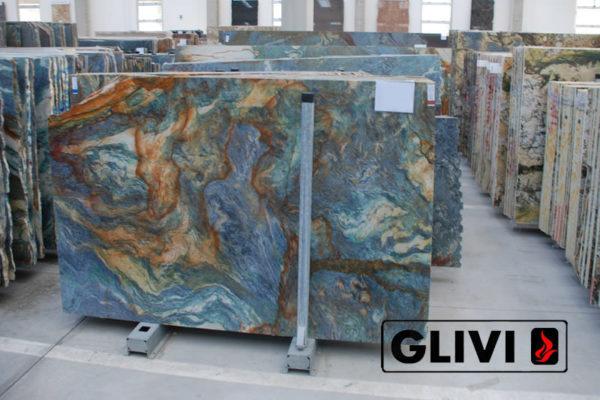 Натуральный камень, природный гранит Luise Blue от Гливи, фото 4