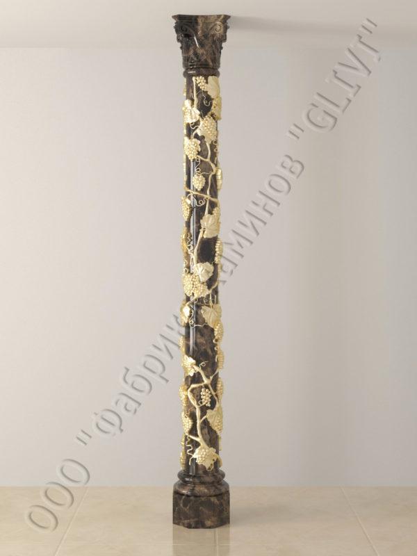 Колонна из натурального камня (мрамора) Витис, фото 1