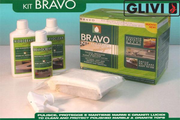 Средство для защиты и ухода за натуральным камнем KIT BRAVO , фото 1