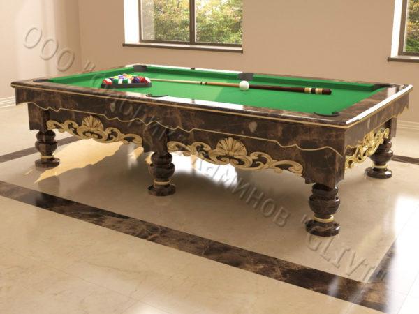 Бильярдный стол из натурального камня (мрамора) Калантэ, фото 1