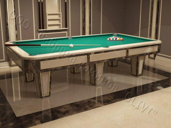 Бильярдный стол из натурального камня (мрамора) Риенс, фото 1