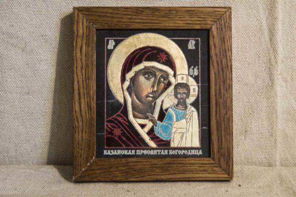 Икона Казанской Божией Матери № 1-04 подарочная из мрамора, камня, от Гливи, фото 1