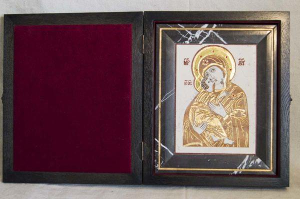 Икона Владимирской Божией Матери № 5 из мрамора, камня, от Гливи, фото 3