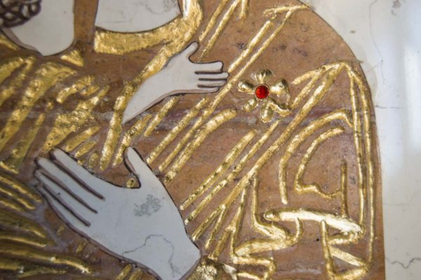 Икона Владимирской Божией Матери № 5 из мрамора, камня, от Гливи, фото 5