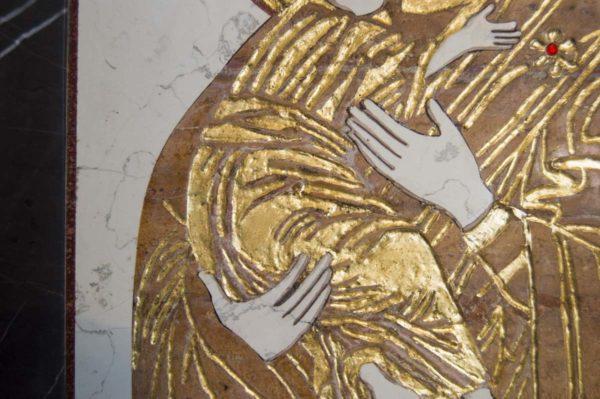 Икона Владимирской Божией Матери № 5 из мрамора, камня, от Гливи, фото 6