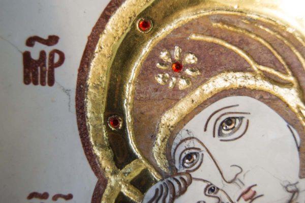 Икона Владимирской Божией Матери № 5 из мрамора, камня, от Гливи, фото 8