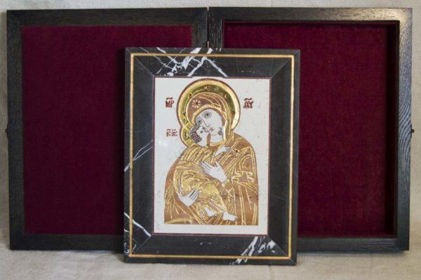 Икона Владимирской Божией Матери № 5 из мрамора, камня, от Гливи, фото 9