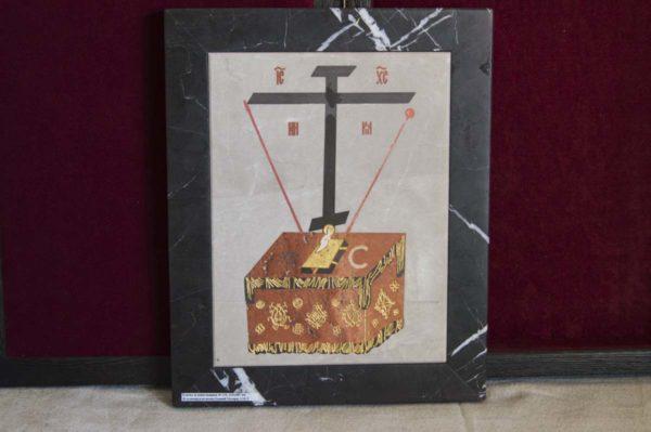 Икона Владимирской Божией Матери № 5 из мрамора, камня, от Гливи, фото 10