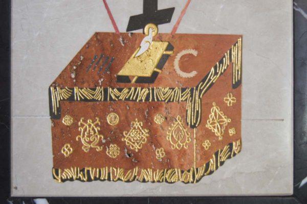 Икона Владимирской Божией Матери № 5 из мрамора, камня, от Гливи, фото 11