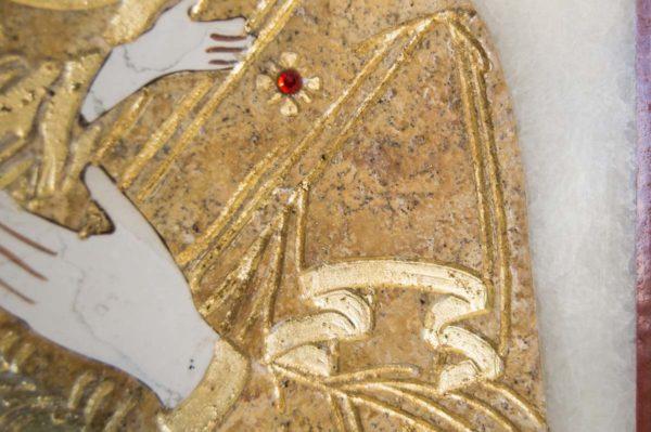 Икона Владимирской Божией Матери № 2 из мрамора, камня, от Гливи, фото 6
