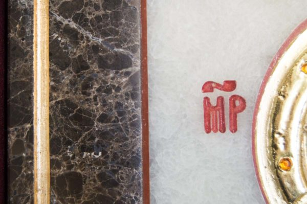 Икона Владимирской Божией Матери № 2 из мрамора, камня, от Гливи, фото 9